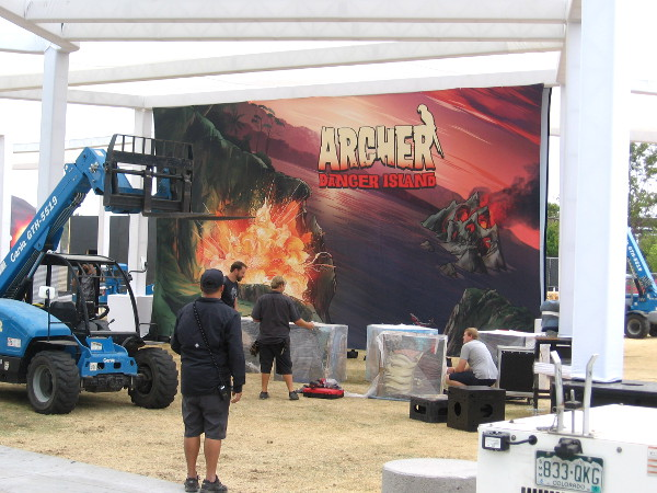 FXhibition also includes a cool graphic depicting Archer Danger Island.