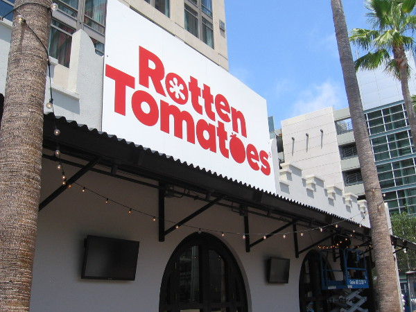 Rotten Tomatoes has their own location at Comic-Con this year, right next to the Hard Rock Hotel.