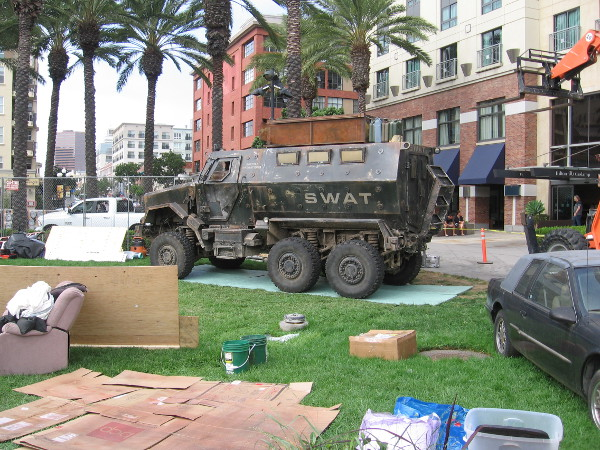 And so has an armored SWAT vehicle! The undead can't be far away now!