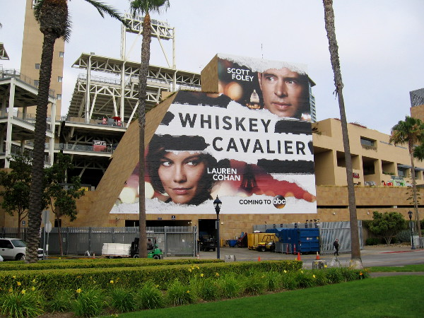 Petco Park's Whiskey Cavalier wrap is done.