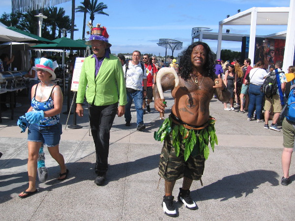 Cosplay and magic fill the area behind the San Diego Convention Center during 2018 Comic-Con!