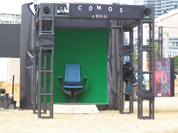 People can sit in front of a green screen at the Cosmos activation. Perhaps they'll fly through space. I don't know.