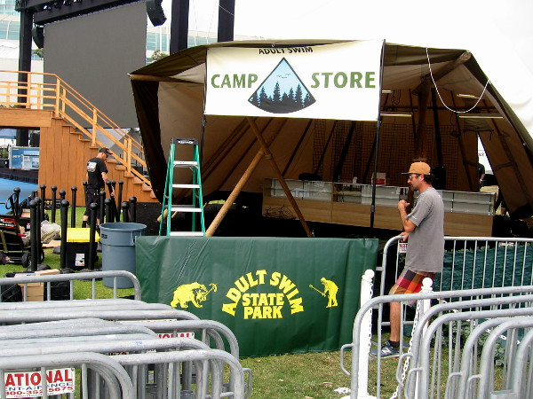 As I walked past, the Camp Store at Adult Swim State Park was being stocked.