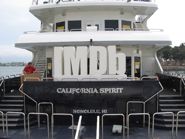 Flagship's California Spirit is being transformed into the IMDb yacht.