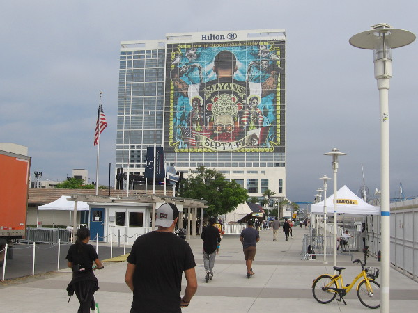 The Mayans MC wrap on the Hilton is now complete.