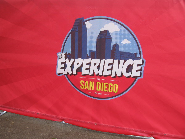 Logos are on the fence around The Experience in San Diego, which I've been calling the Experience at Comic-Con. I had read that somewhere.