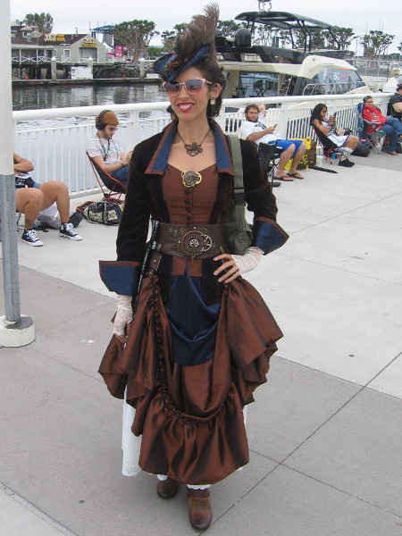 A steampunk cosplay.