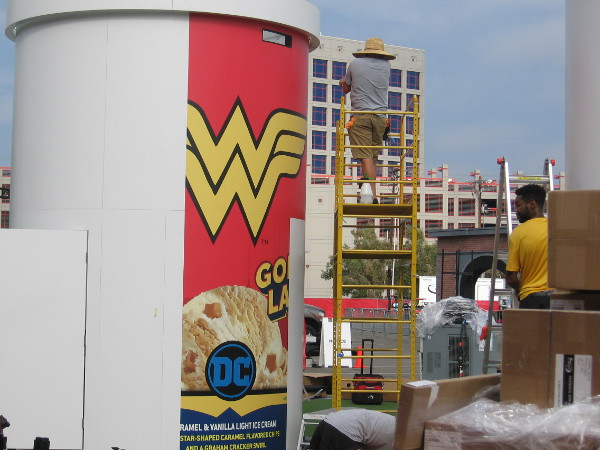 Looks like DC Comics will be serving Wonder Woman Golden Lasso caramel and vanilla ice cream!