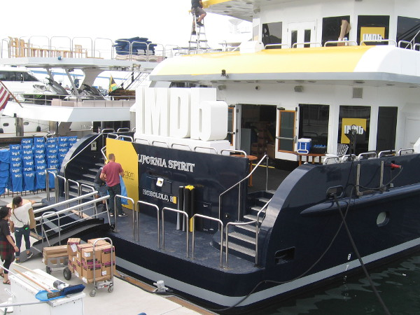 The IMDb yacht gets a boat wrap!