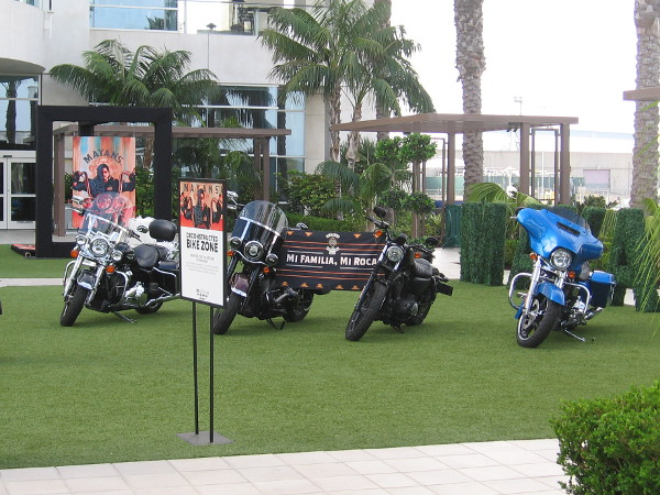 A cool Deconstructed Bike Zone near the Hilton Bayfront promotes the upcoming FX show Mayans MC. Prepare for the return of mayhem!