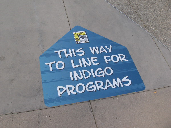 If you're looking for the line for Indigo programs, it's this way.