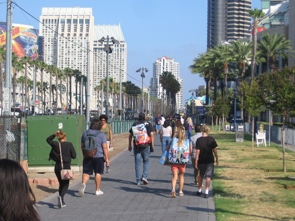 What it's like to walk outside Comic-Con in the early morning, before the crowds become insane.