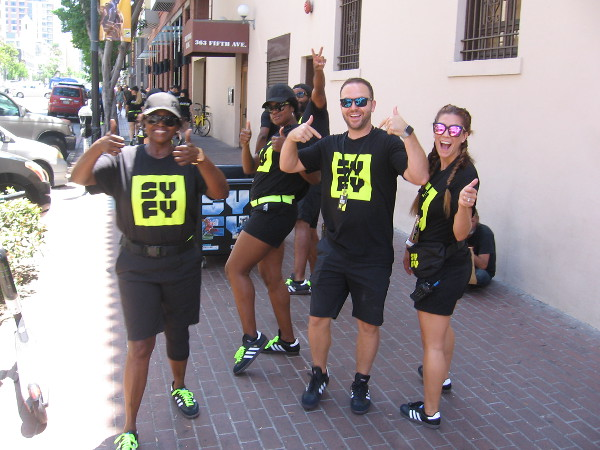 This friendly Syfy gang ran out of swag bags but promised to be back with many more!