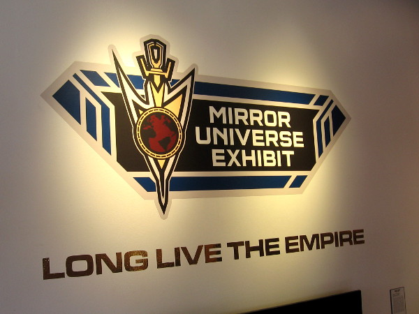 The Star Trek: Discovery Mirror Universe Exhibit at 2018 San Diego Comic-Con. Long Live the Empire.