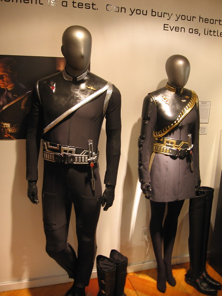 Paul Stamet's Terran Empire Science Uniform and Keyla Detmer's Terran Empire First Officer Uniform.