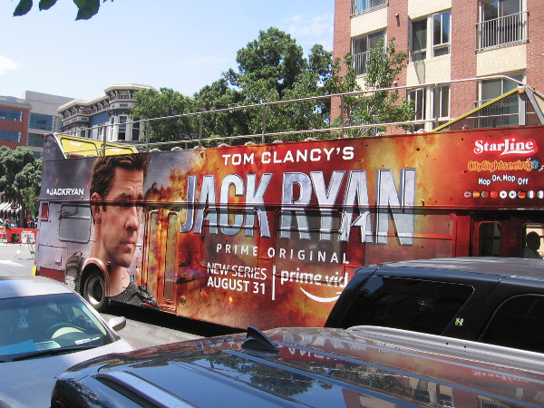 This Tom Clancy's Jack Ryan bus clearly needs to fetch more people.