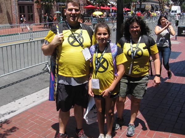 The happy X-Men family!