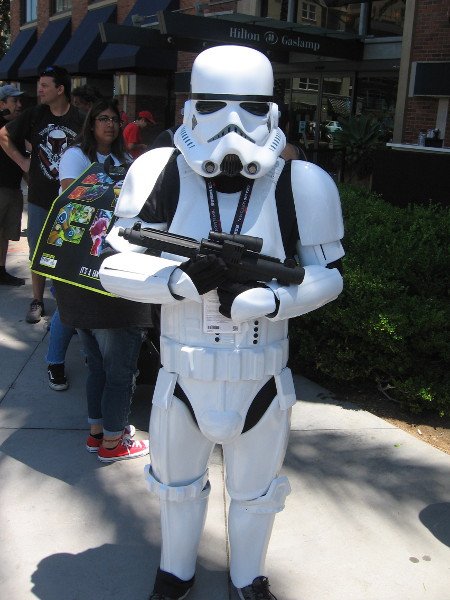 Of course, I knew I'd run into a Star Wars Stormtrooper during my travels. No Leias yet, however.