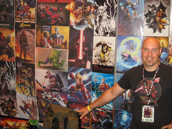 Eric Ninaltowski shows some of the super cool pop culture art that he has created.