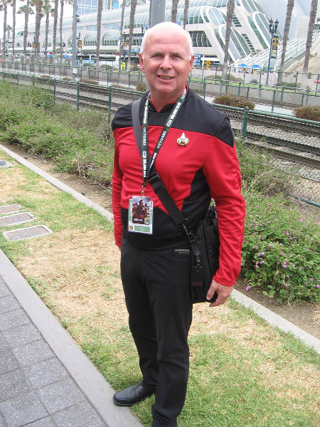 Captain Jean-Luc Picard cosplay. Ready to take the photo? Make it so.