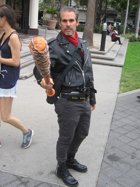 Cosplay of Negan of The Walking Dead.