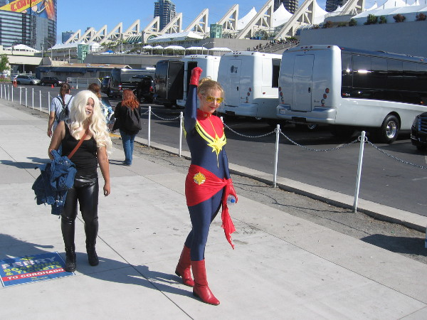 Good thing Nick Fury called Captain Marvel. Here she comes now to save the day!