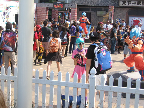 Lots of visitors to 2018 Comic-Con were checking out the Bandai Dragon Ball activation.