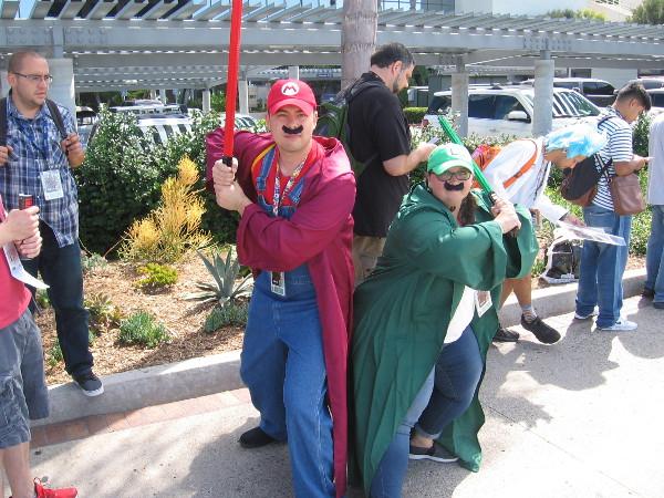Mario and Luigi prepare for battle.