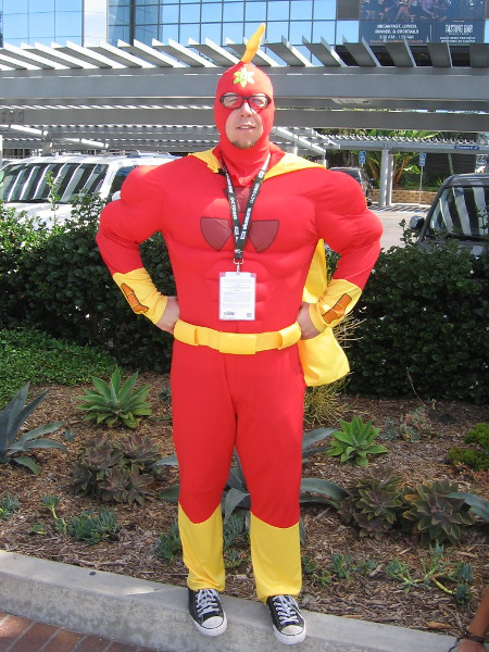 I was told this cosplay is Radioactive Man.