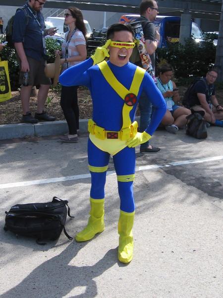 Cyclops was good enough not to remove his visor.