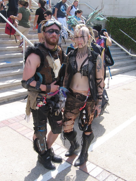 Cosplay of some Mad Max post-apocalyptic characters.