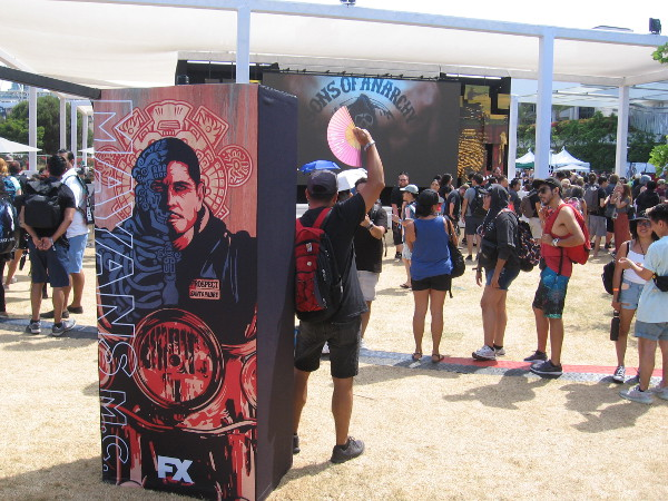 A look at the FXhibition area near the Hilton Bayfront, behind the San Diego Convention Center.