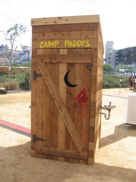 Here's Camp Paddy's outhouse.