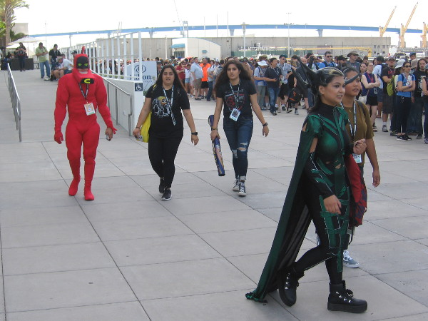 She must have waved her magic wand, because there's wonderful cosplay all over the place!