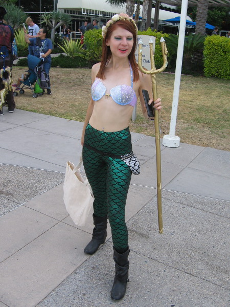 Mera blinked. Must be all that dry air outside of the water.
