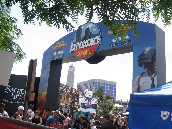 People stream into the fun Comic-Con offsite.