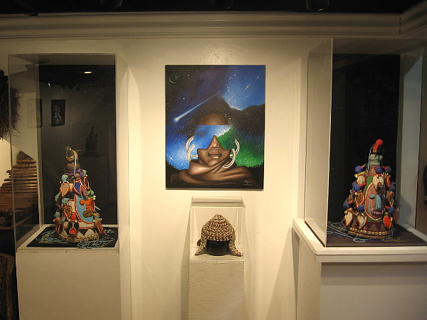 Cool artwork on display at the Worldbeat Cultural Center in Balboa Park.