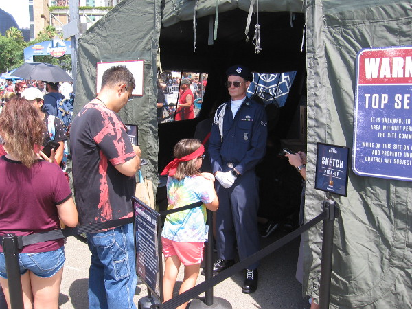 Project Blue Book had a Top Secret tent but with my sketchy background, I don't have clearance, so I averted my eyes.