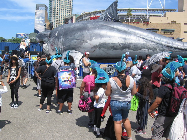 Discovery Channel celebrates Shark Week with an enormous life-size Megalodon named Sharkzilla.