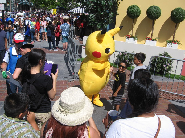 Pikachu was making a new friend.