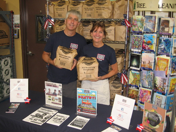 The USO is collecting food at Grocery Outlet Bargain Markets around San Diego. Buy a five dollar bag of food for a hungry neighbor, receive a five dollar coupon for the store!