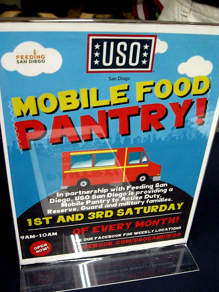 USO San Diego collects food twice a month in partnership with Feeding San Diego. Check the USO Facebook page for their Mobile Food Pantry locations!