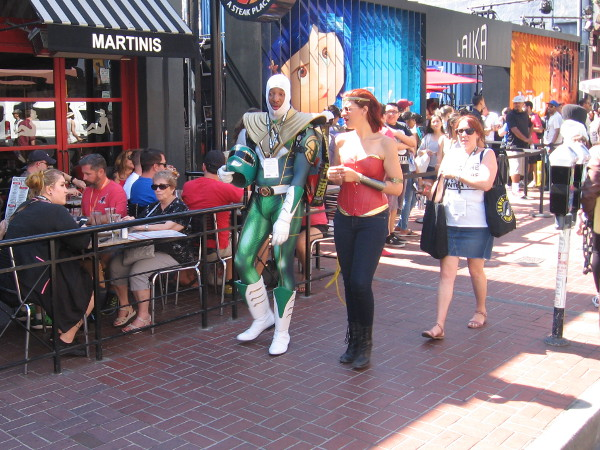 Someone went to the Gaslamp Quarter for a martini, and look what they saw.