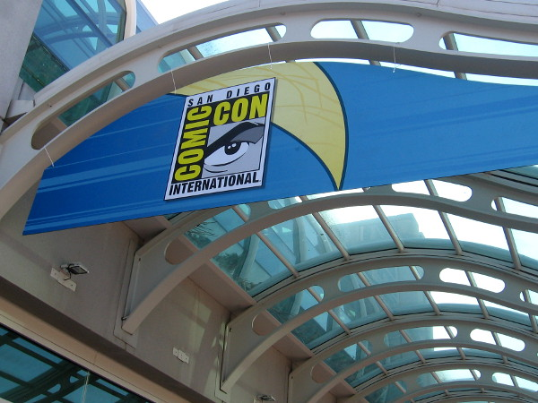 With less than a week to go, Comic-Con International logos have appeared all over the San Diego Convention Center!