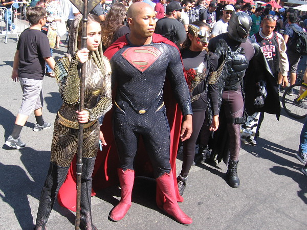 Members of the Justice League has descended into the Gaslamp Quarter. Have no fear.
