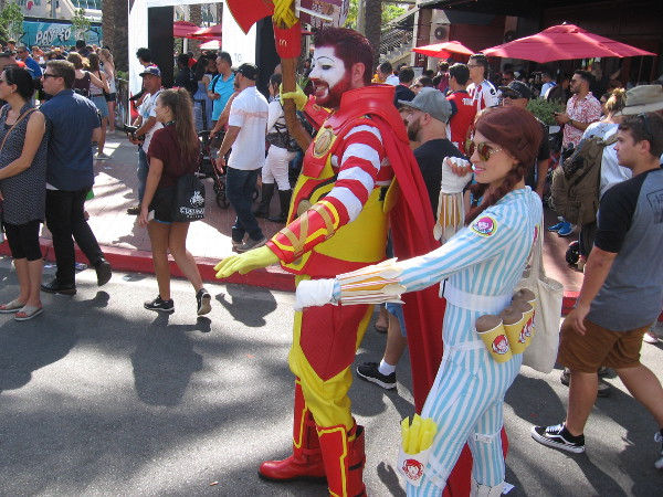 Here come some fast food superheroes. First up are McDonalds and Wendys.
