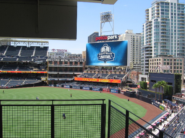 Another beautiful, sunny day in San Diego at Petco Park. Today is particularly special.