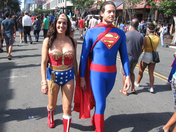 Everything is returning to normal. Good old Wonder Woman and Superman are coming down Fifth Avenue.