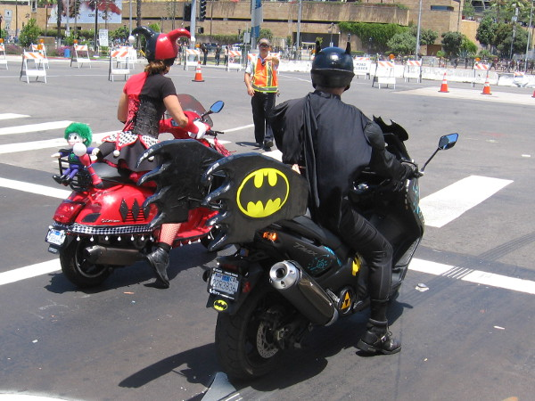 It's a Harley-cycle and a Bat-cycle!