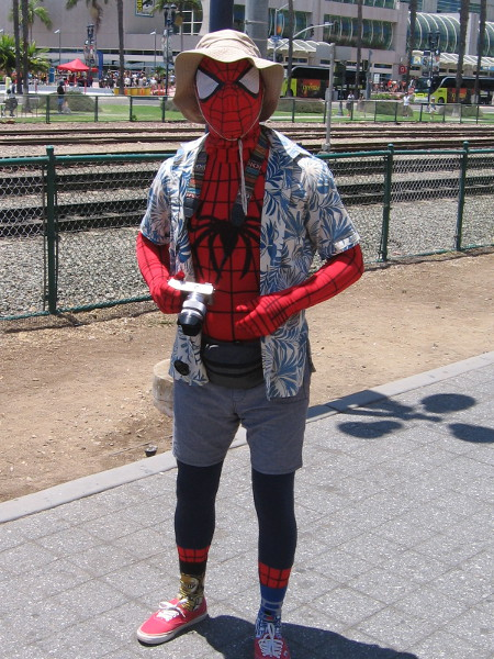 I know San Diego gets a lot of tourists, but Spiderman?
